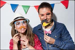 Photo Booth at a Summer Party